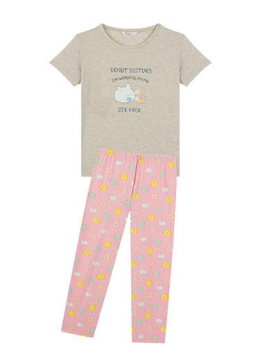 Penti Kadın Çok Renkli Donut Ss Pijama Takım PNG5O8VM21IY Renkli